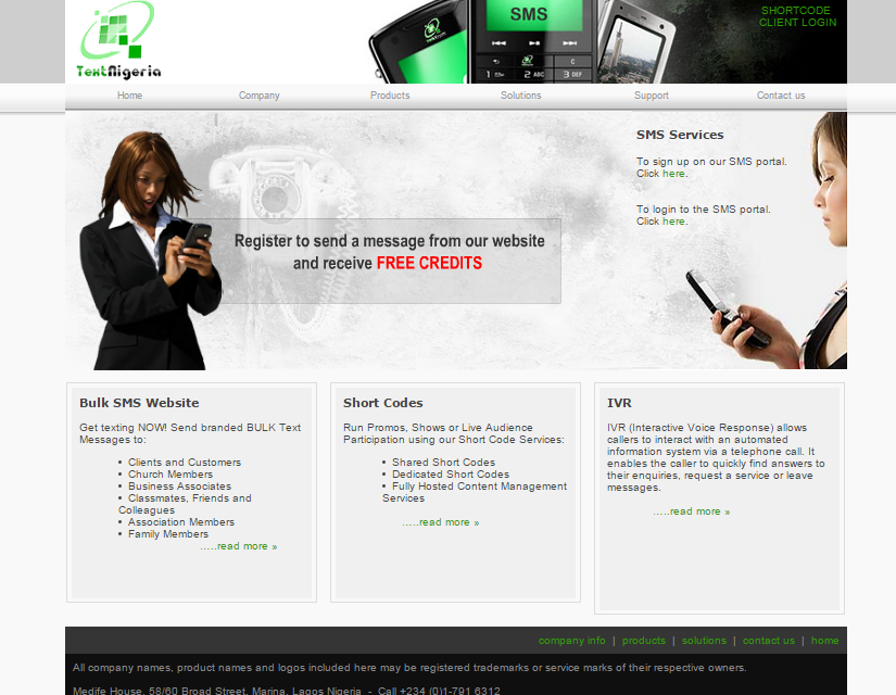 Text Nigeria Web Design